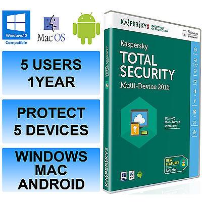 Kaspersky insgesamt Internet Security 2016 Multi Device 5 Benutzer 1 Jahr DVD