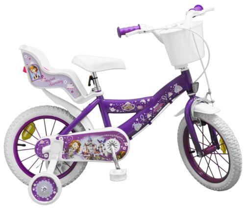Kinderfahrrad Disney Prinzessin Sofia 14 Zoll Kinder Mädchen Fahrrad Puppensitz