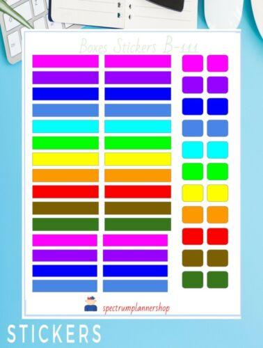 Erin Condren Planner boxes headers Sticker Planner Agenda Stickers