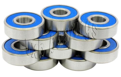 Lot 10 Radial Ball Bearings 696-2RS 6x15 Sealed 6x15x5