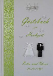 Individuell Typ 1/3 Klar Und GroßArtig In Der Art Gästebuch Zur Hochzeit Hardcover Druck Lindgrün