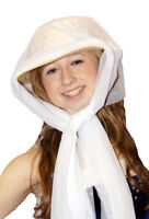 New Victorian/Edwardian/Period Costume Fancy Dress Hat With Scarf