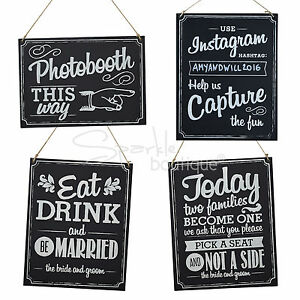 Details About Wooden Wedding Signs Chalkboard Style With Brown String Vintage Rustic Wedding