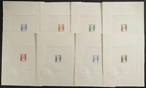 Togo 1947 J32-J39 Postage due Sunken die proofs Part set of 8. 10¢ to 5fr