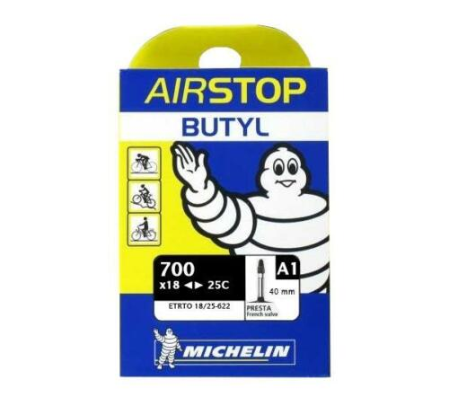 Chambre à air vélo 700 x 18-25C Michelin AirStop valve A1 Presta 40mm Vélo de Ro
