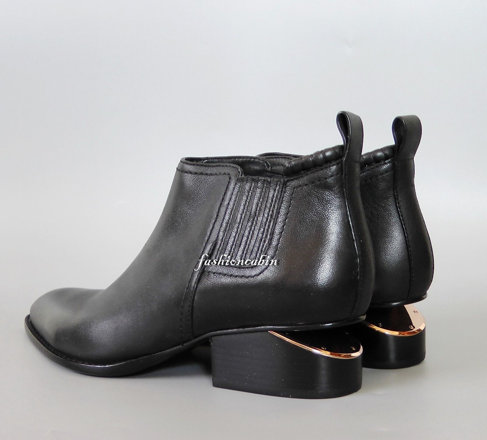NEW ALEXANDER WANG Kori Cut Out Heel Ankle Bootie shoes, EUR 39.5, Black Leather
