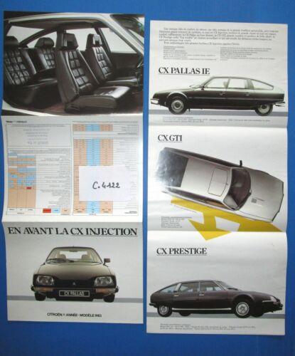 dépliant CITROEN CX injection Pallas IE N°C.4122 GTI,Prestige   modéle 1983