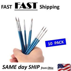 10 Pack Nail Art Detail Brushes High Quality Ebay