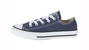 Details about CONVERSE All Star Low Top Navy Blue Shoes Chucks Kids Youth Girls Sneakers 3J237