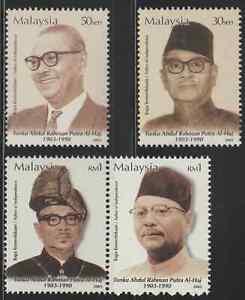 300-MALAYSIA-2003-FATHER-OF-INDEPENDENCE-TUNKU-ABDUL-RAHMAN-SET-FRESH-MNH