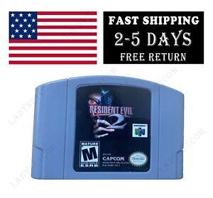 Nintendo 64 N64 Resident Evil 2 versión estadounidense de cartucho de tarjeta de video juegos