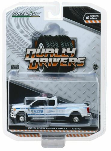 NYPD 2019 Ford F-350  POLICE Truck *** Greenlight Dually Drivers 1:64 OVP