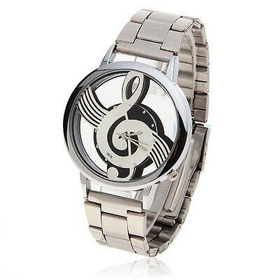 Womens Watches Note Music Notation Metal Quartz Men's Wristwatch Fashion Cheap