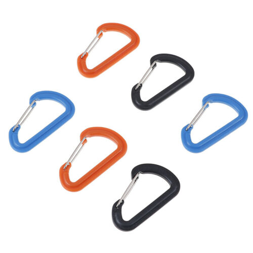 2Pcs Plastic keychain clip carabiner hiking buckle camping climbing accessorieSE