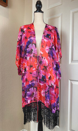 Catalina Floral Swim Cover Up Top Women's Size 1X