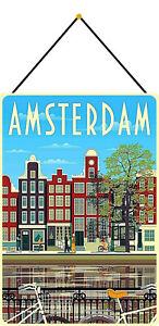 Amsterdam-Tin-Sign-Shield-with-Cord-Metal-7-7-8x11-13-16in-FA1821-K