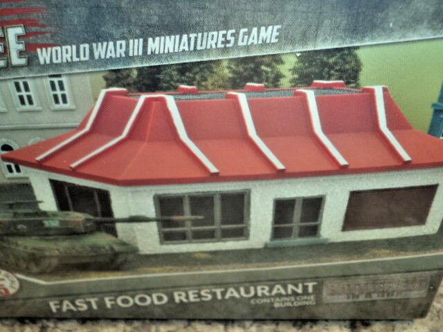 Fast Food Restaurant Battlefield in a Box Team Yankee Prepainted Terrain BB207