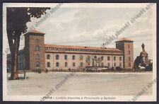 PAVIA CITTÀ 105 CASTELLO - MONUMENTO a GARIBALDI Cartolina viaggiata 1930