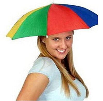 Headwear MultiColor Umbrella Hat Cap TIUA Beach Sun Rain Fishing Camping Hunting