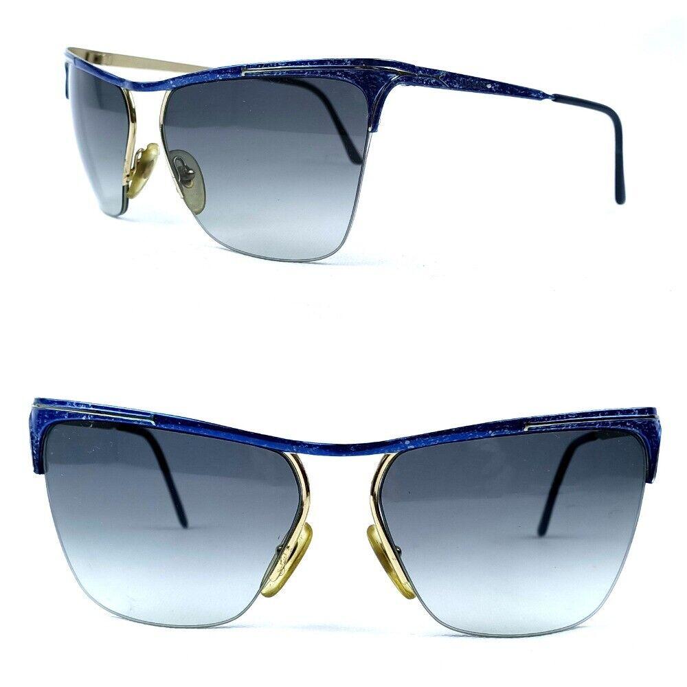 MISSONI SUNGLASSES VINTAGE BLUE METAL FRAME BLUE-GRADIENT LENSES ITALY M 173/S