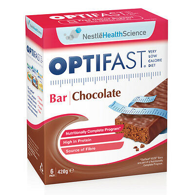 New 70g X 6pc Optifast Bar Chocolate Diet Low Calorie Weight Loss