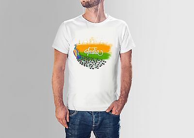 Independence Day India Peacock Printed T Shirts For Men Women Graphic Tee
