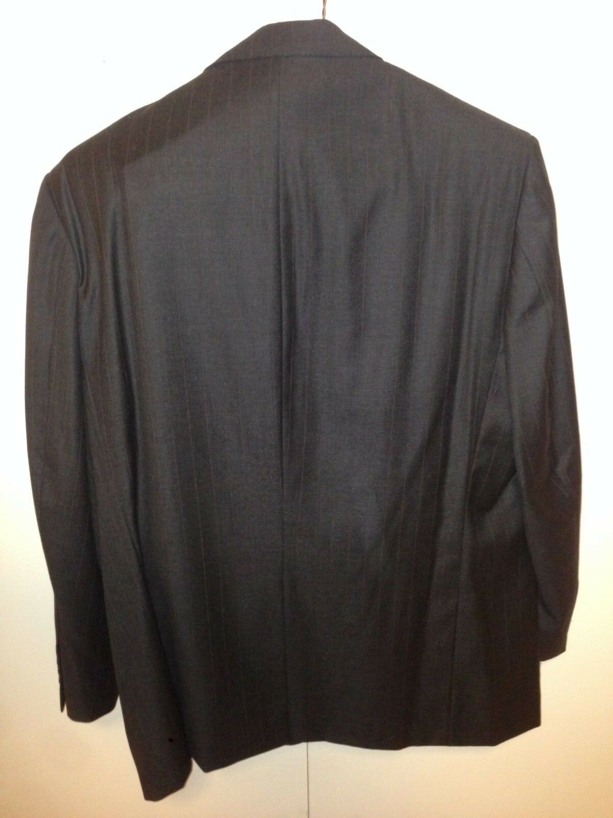Brooks Brothers  2 Piece Piece Piece Suit Charcoal Gris Pin Striped Size 46R  Pant 32x29 ce5e82