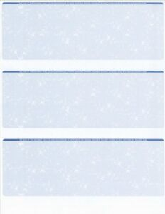 125-Sheets-375-Checks-Blank-Check-Stock-Paper-Blue-Three-3-on-a-Page
