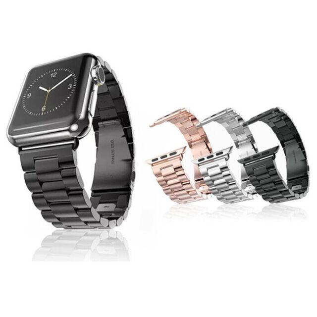 Neu!Luxus Edelstahl Ersatz Uhrarmband Metal Loop für Apple Watch Series 5 4 3 2