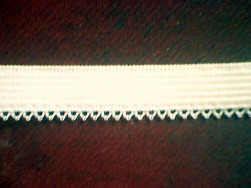 PE38IV ELASTIC 3//8 IVORY Cream Picot Loop Edged Elastic 5 yds