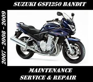 suzuki gsf1250 bandit 1250 service maintenance repair manual 2007 rh ebay co uk suzuki bandit 1250 service manual pdf suzuki bandit 1250 service manual pdf