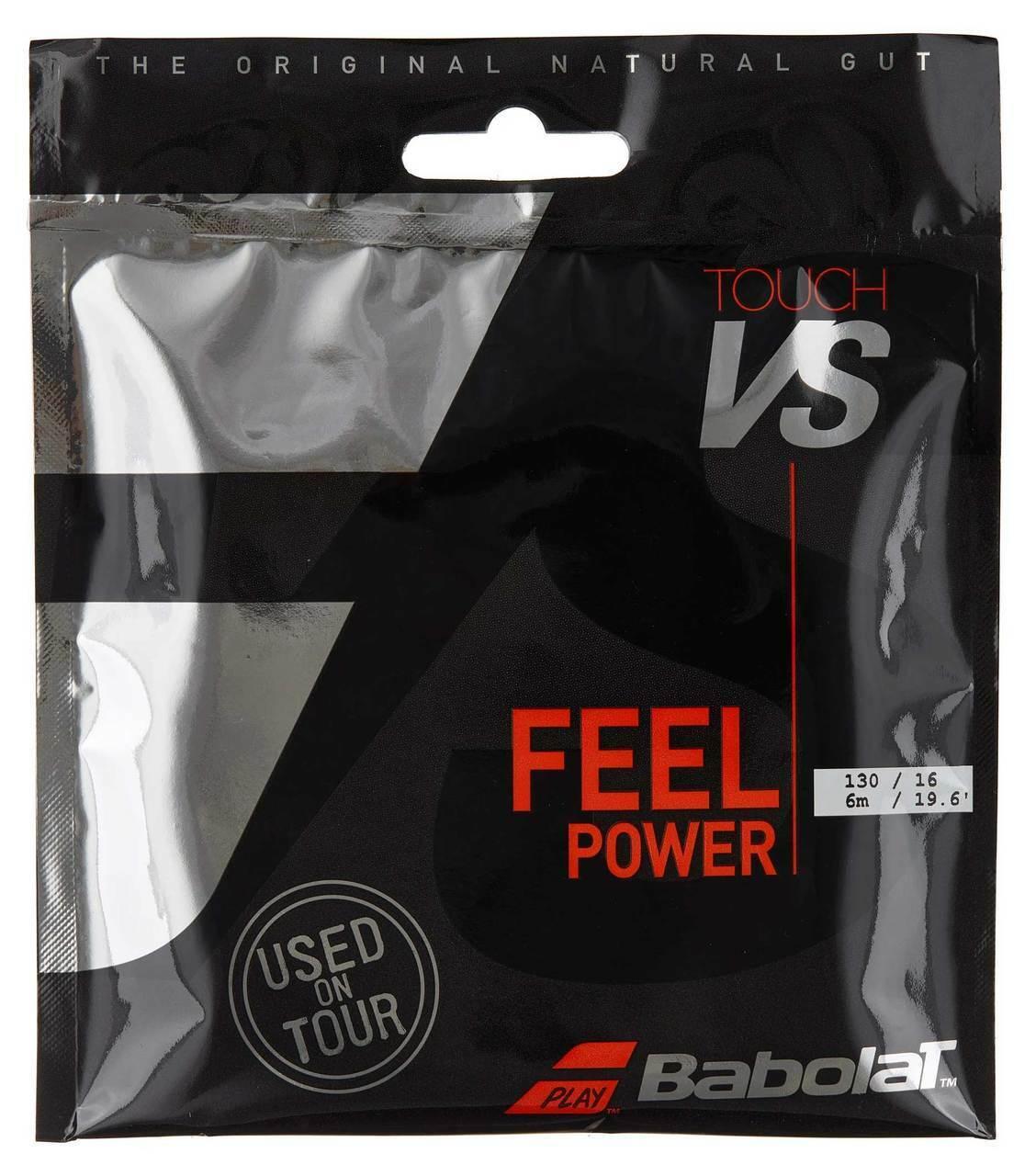 Express Shipping Babolat VS Touch Natural Gut 1//2 Set 16 String