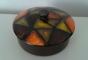 Vintage-Danish-Modern-Bitossi-Lidded-Bowl-Aldo-Londi-MCM-Rosenthal-Londi