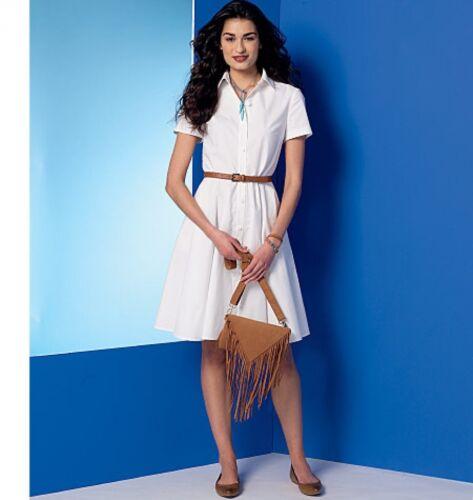 McCalls Donna facile Sewing Pattern 7351 Stardust con tasche e cintura.