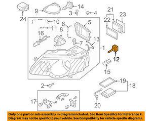 vw volkswagen oem 04 10 touareg headlight headlamp bulb n10566103 ebay rh ebay com