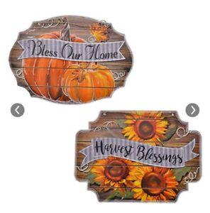 Fall Decor Signs Pumpkin sign Sun flower Sign LABOR DAY ...