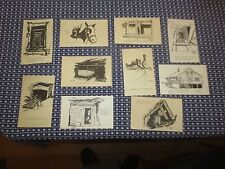 10 UNUSED POSTCARD SKETCHES of NUMBER NINE MINE, Lansford PA  by Perry Stirling