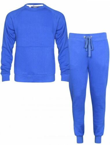 Mens Plain Casual sweatshirt Top and trouser Bottom set tracksuit Jogging Suit
