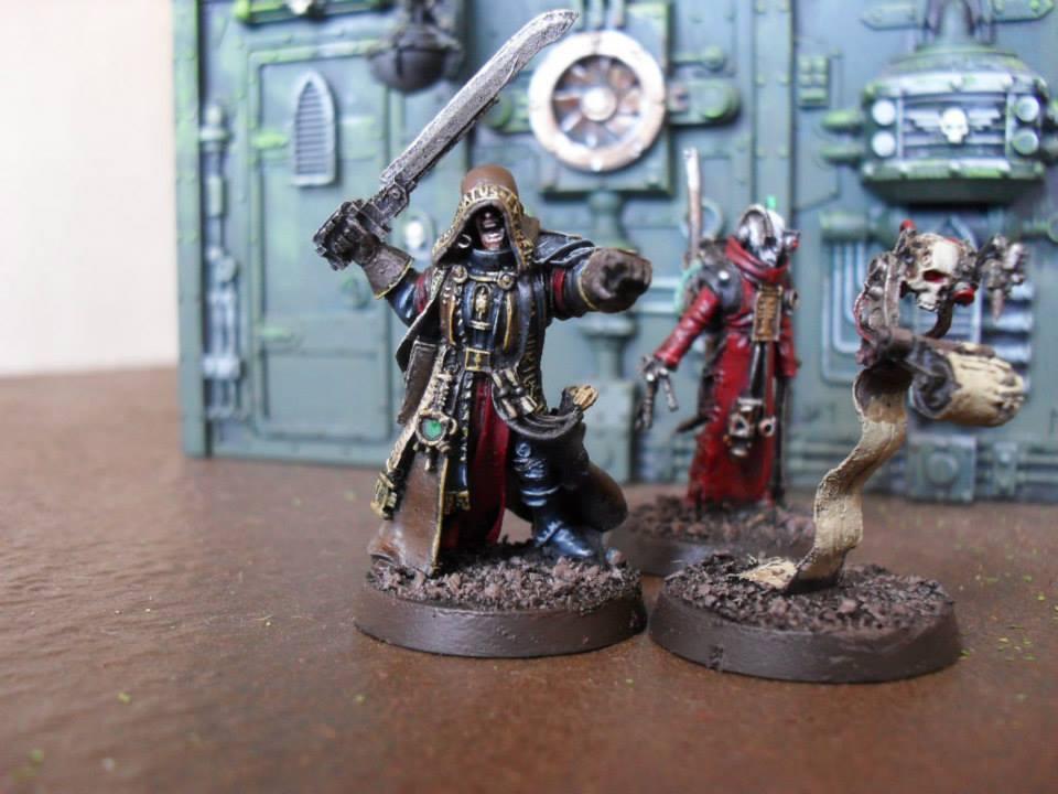 Pro painted Warhammer 40,000 Inquisitor Solomon Lok & Retinue