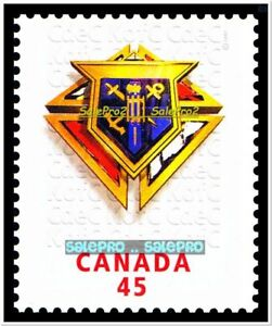 Details About CANADA 1997 CANADIAN KNIGHT OF COLUMBUS MINT FV FACE 45 CENT MNH STAMP