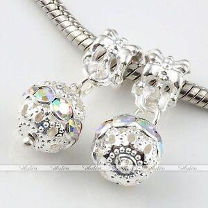 5x-Dangle-Ball-Crystal-European-Loose-Beads-Fit-Charms-Snake-Bracelet-DIY-Hot