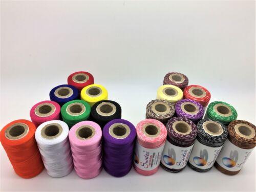 10 Variegated Thread Spools Multi Colour 10 Indian Art Silk Machine Embroidery