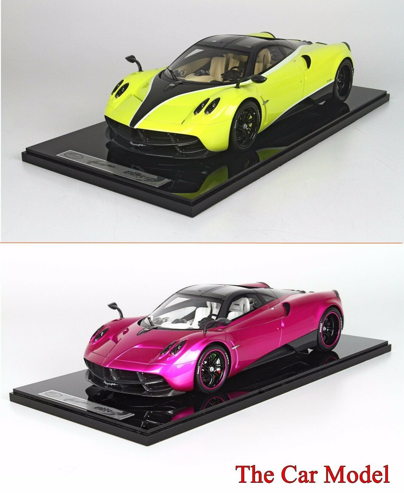 Pagani Huayra Flash Pink, Yellow w  Display Case Ltd 20 pcs BBR 1 12 - No MR