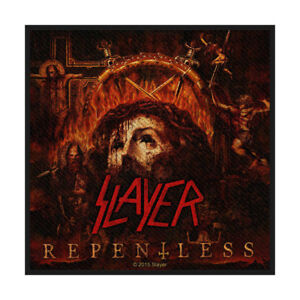 SLAYER-Repentless-Woven-Sew-On-Patch-Official-Licensed-Band-Merch-Metal-Thrash
