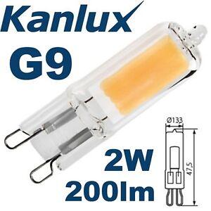 kanlux g9 2w led gl hbirne glas kapsel 40w ersatz. Black Bedroom Furniture Sets. Home Design Ideas