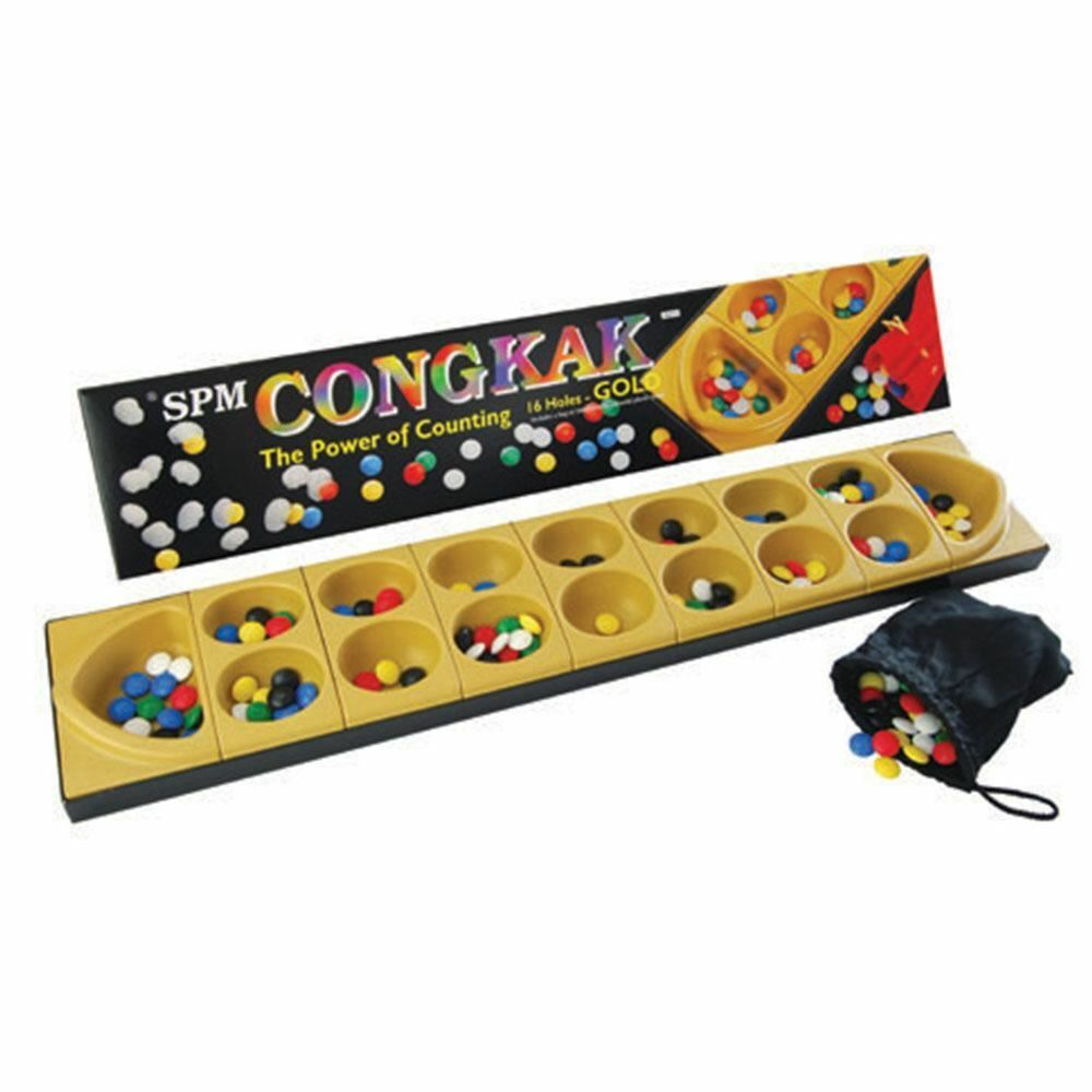 [ SPM GAMES ] CONGKAK 16 Holes Counting Game gold Edition [ SPM106 ]