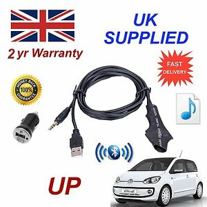 Para-VW-Up-Bluetooth-Musica-Modulo-With-3-5mm-Entrada-Aux-amp-1-0A-Adaptador