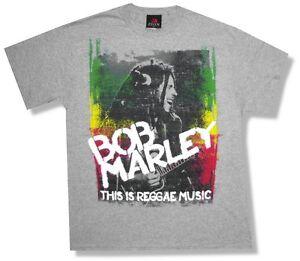 Bob-Marley-Reggae-Musique-Gris-T-Shirt-Neuf-Adulte-Officiel-Medium-M