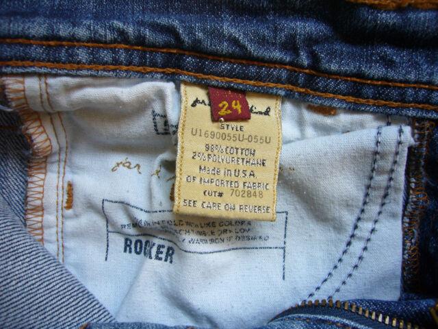 Orig.7 for all Mankind Jeans in Blau Mod. Rocker W24  Flared - Narrow Boot