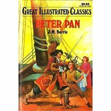 Great Illustrated Classics: Peter Pan Vol. 46 by J. M. Barrie (1995, Hardcover)
